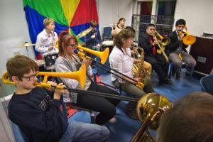 Eröffnungsfeier der Berliner Blindenbibliothek, Schülerorchester