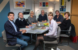 Erweiterten Schulleitung, Herr Schumacher, Herr Brass, Frau Verhoeven, Herr Breitenbach, Herr Ulbrich, Frau Hoppe und Frau Krüger